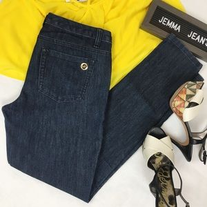 Michael Kors Deep Indigo Wash Jeans EUC- Size 6